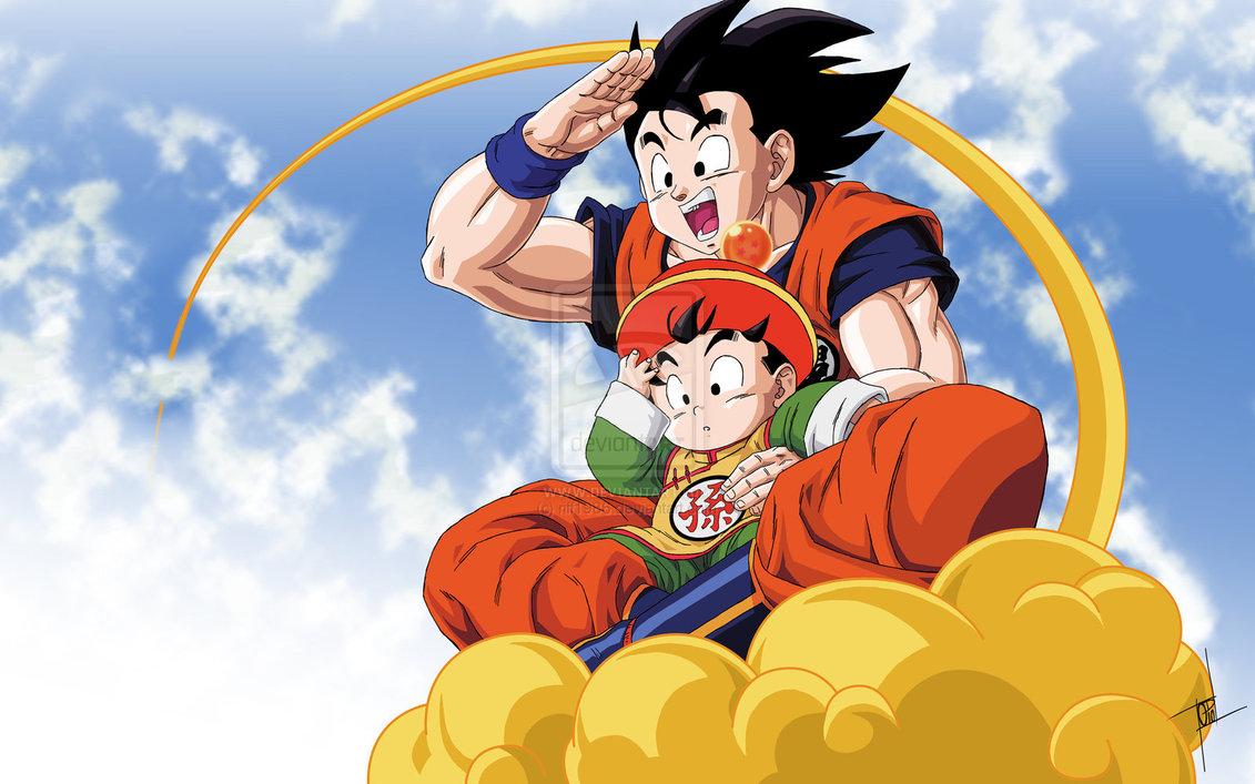 Gohan and Goku by riff1986 1131x707