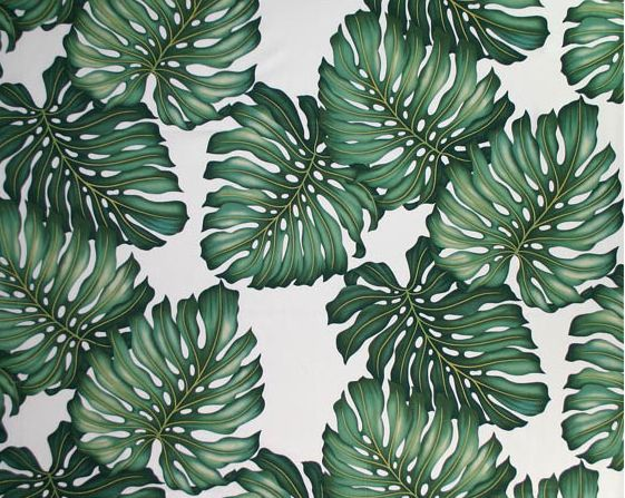 banana palm for art Palm Print Leaf Print Fabric Hawaiian Leaves 561x447