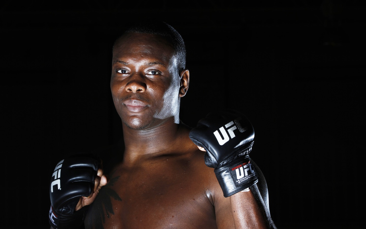 Download wallpaper 1440x900 ovince saint preux ultimate fighting 1440x900