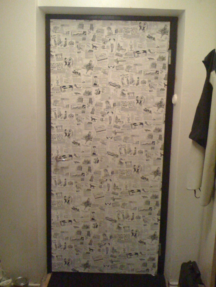 you can cover a door with wallpaper too Papel Tecido Pinterest 736x981