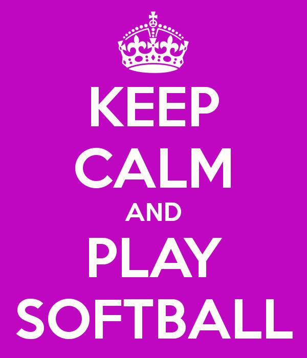 Cute Softball Backgrounds Keep calm and play softball 600x700