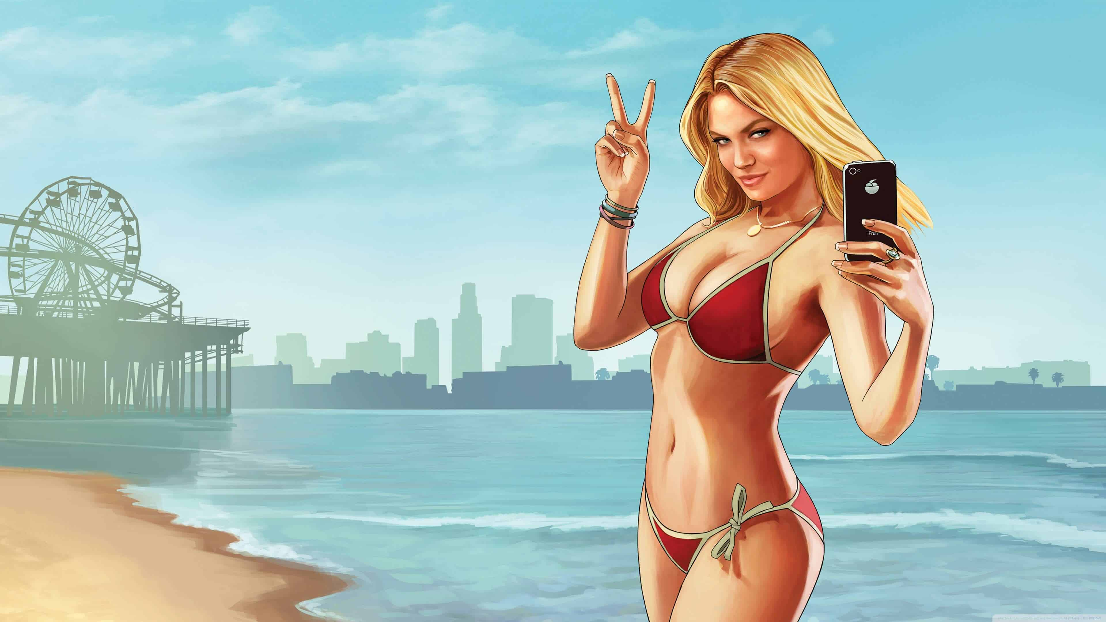 Grand Theft Auto 5 Bikini Model UHD 4K Wallpaper Pixelz 3840x2160