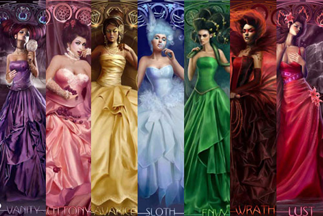 the seven deadly sins also known as the capital vices or cardinal sins 650x434