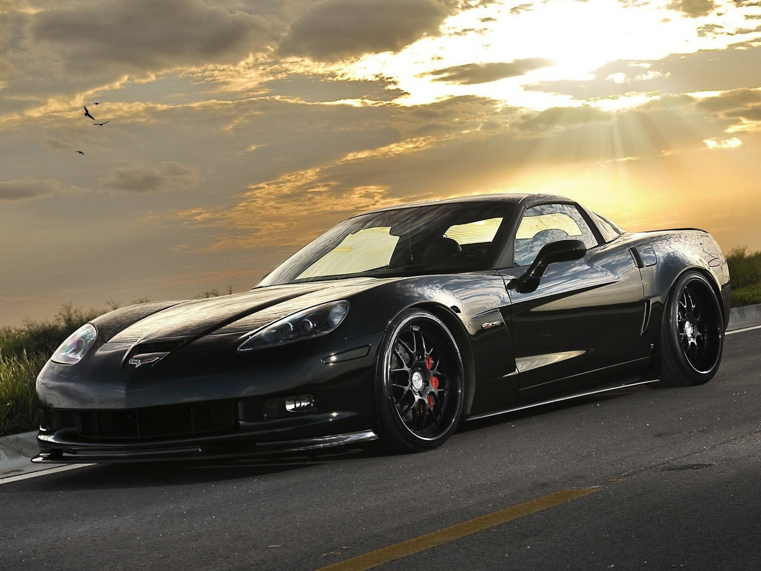 Black Chevrolet Corvette Wallpaper Hd 5958 Wallpaper Wallpaper hd 2560x1920