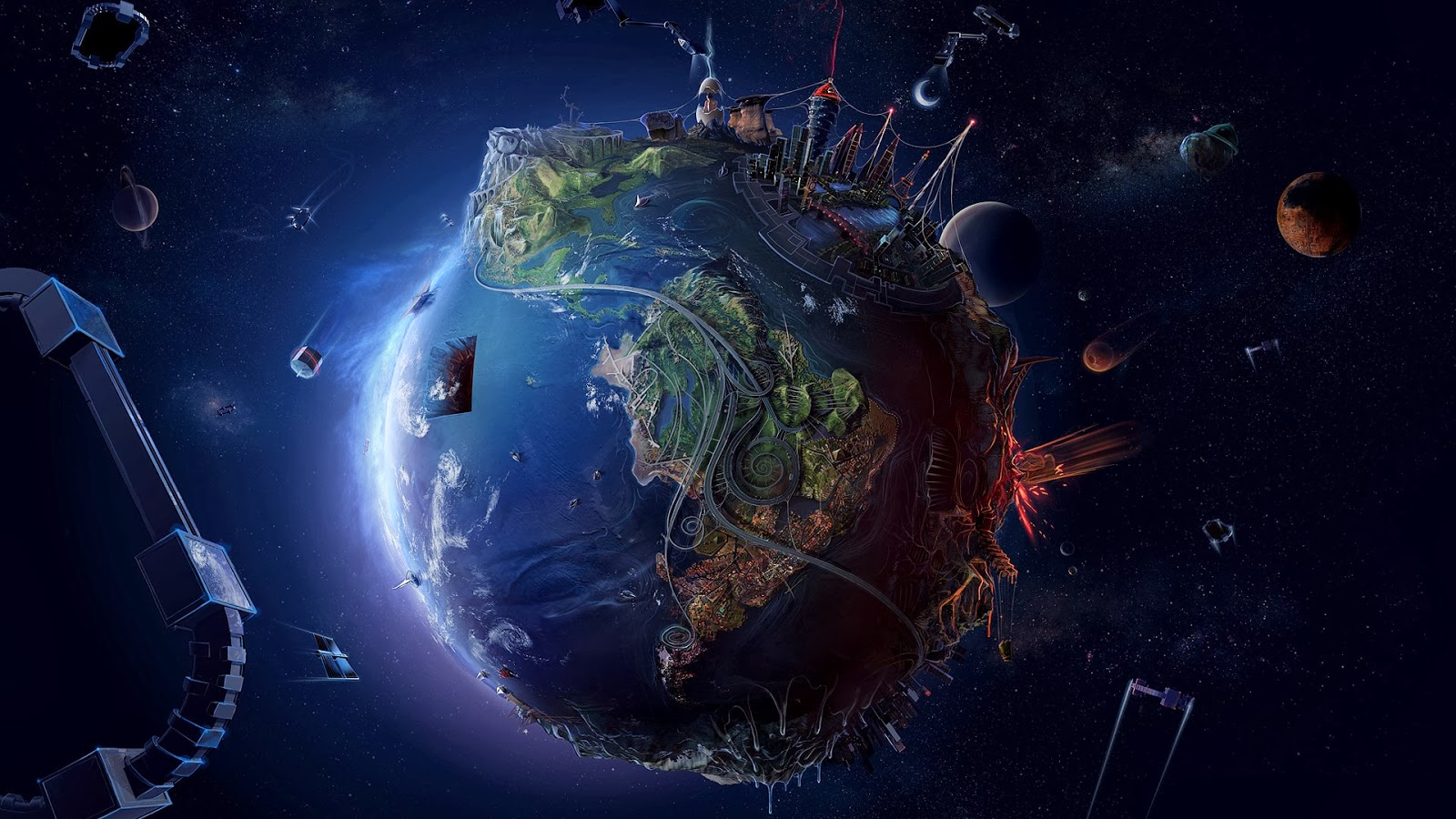 Earth Universe Android Mobile HD Wallpapers 6826 HD Wallpaper 3D 1600x900