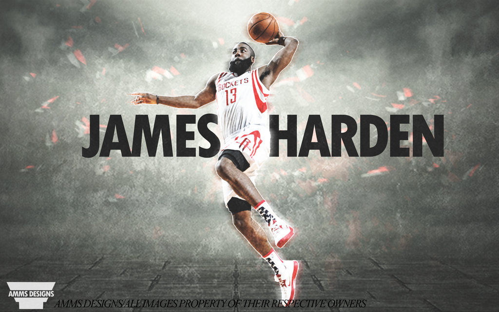 530701e18007 James Harden Dunk Poster by AMMSDesings 1024x640