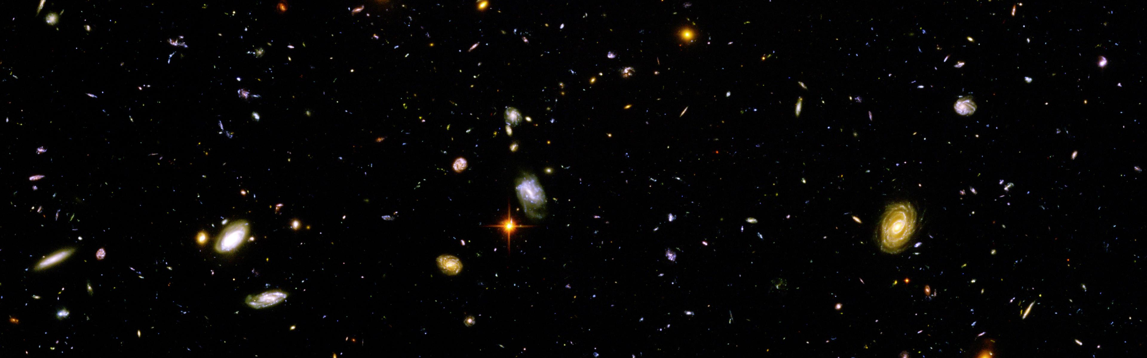 Hubble Ultra Deep Field Dual Monitor Wallpapers Hubble 3840x1200