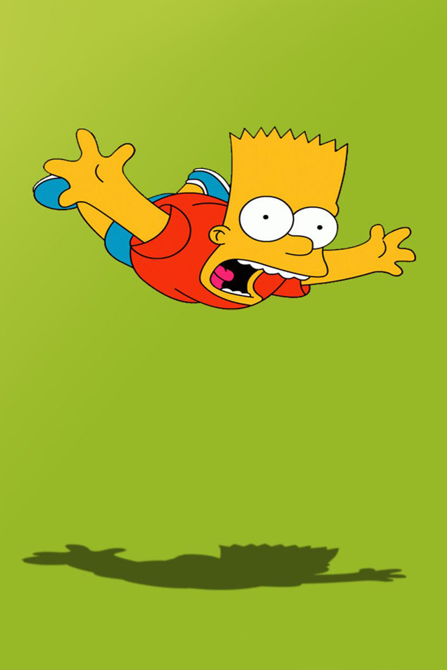 IPhone Wallpapers Pictures Bart Simpson Skateboarding 640x960