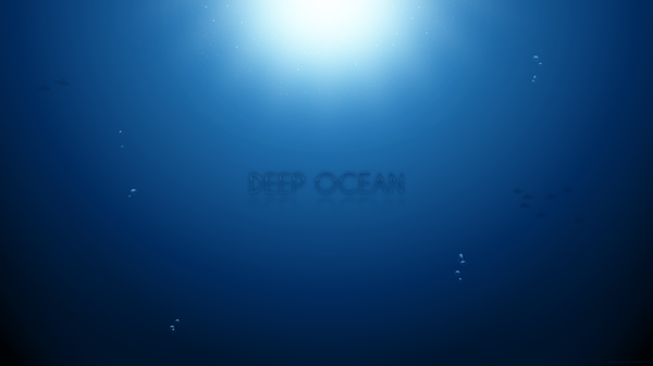 blueocean blue ocean sun minimalistic fish vectors bubbles lonely 600x337
