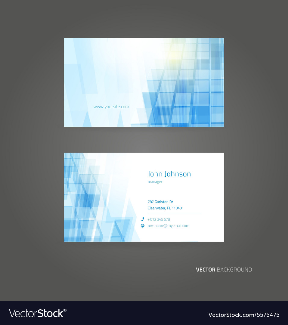 Business card background Royalty Vector Image 957x1080