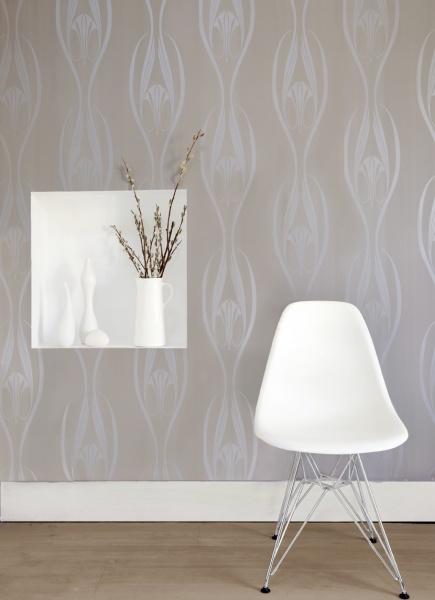 Tempaper Etta Pearl wallpaper by Couture Deco 435x600