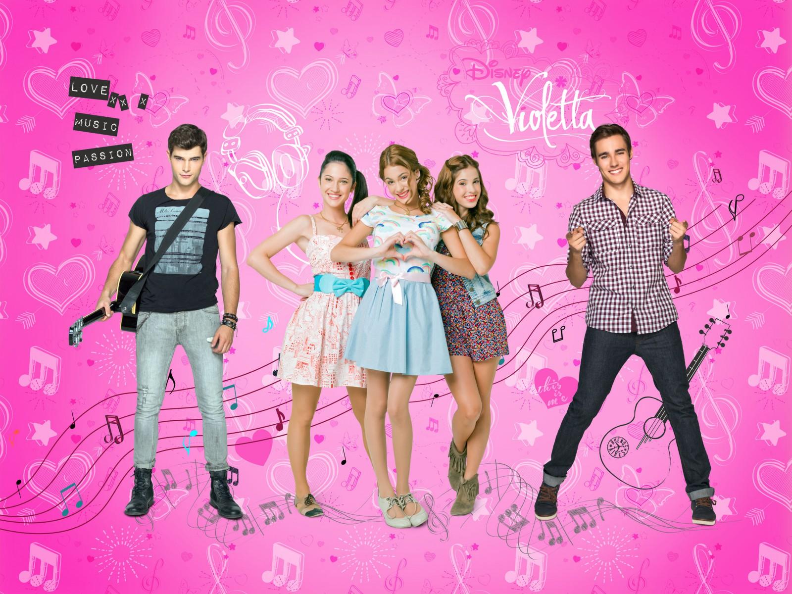 XXL Photo Wallpaper Mural Disney Violetta Girls Kids 1600x1200