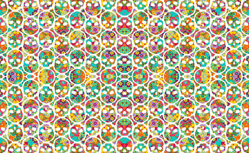 Awsome Backgrounds Wallpapers Sugar Skull Wallpaper For Walls 800x490