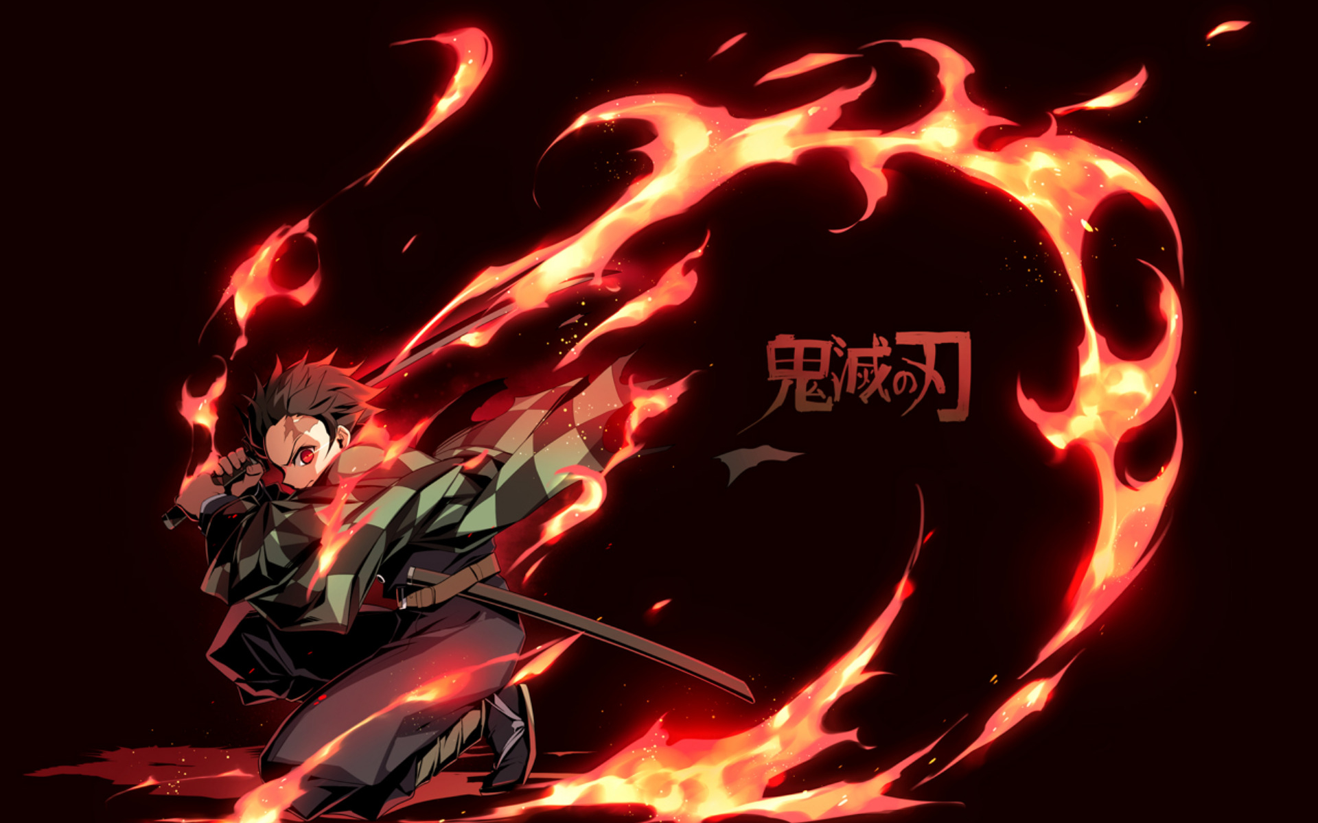 Wallpaper of Tanjirou Kamado Demon Slayer Kimetsu no Yaiba 1920x1200