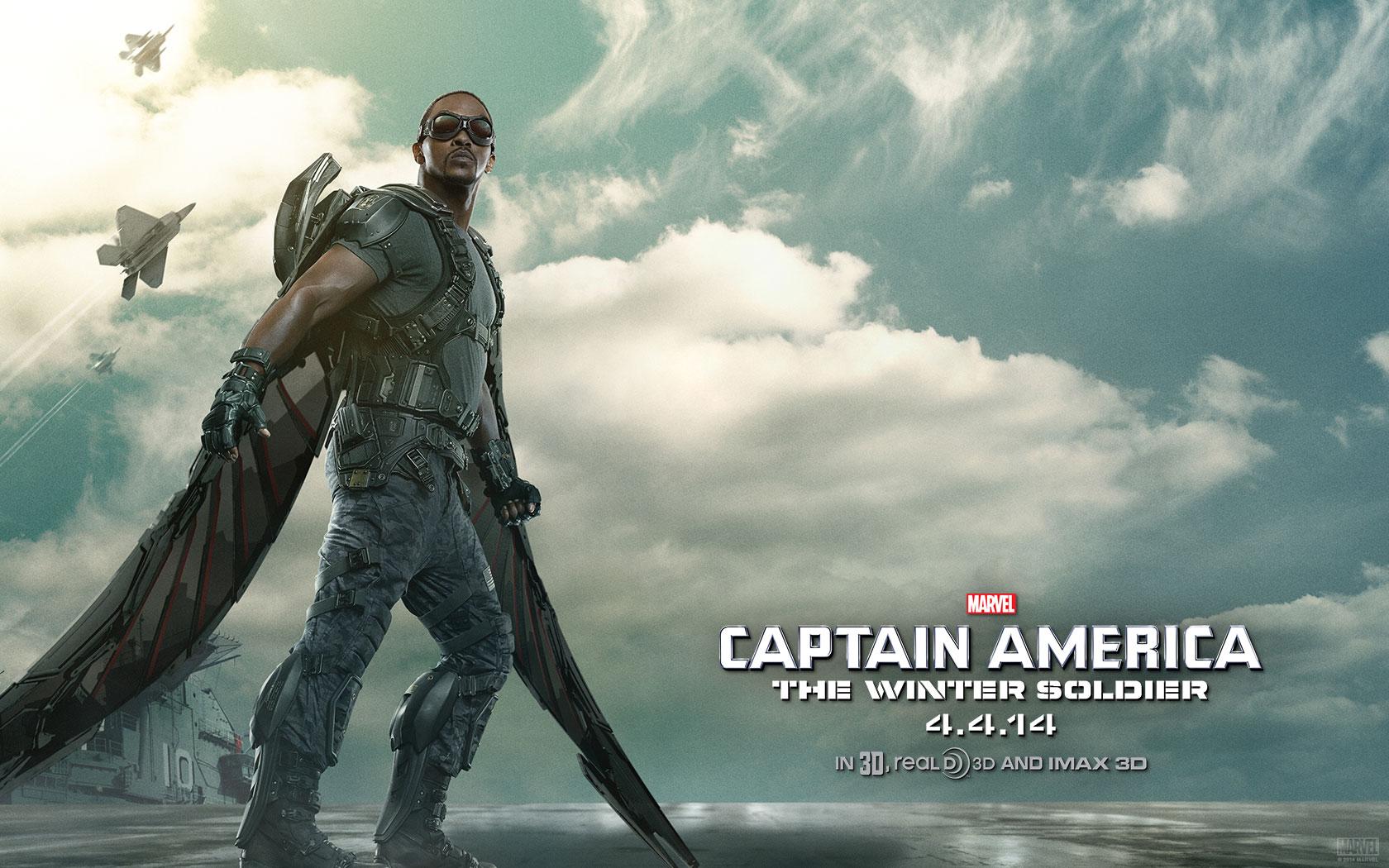 Captain America The Winter Soldier Poster Falcon