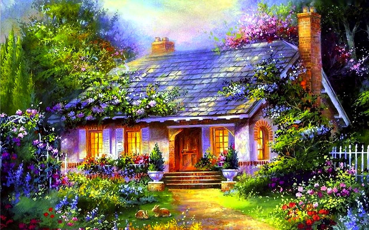 Home sweet home wallpaper wallpapersafari for Wallpaper home cartoon