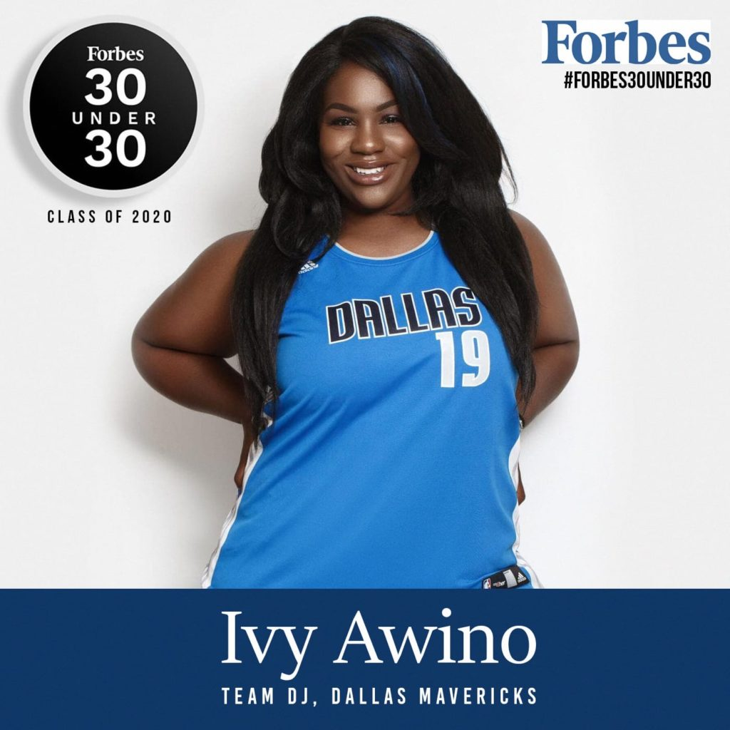 Mavs Poizon Ivy joins global superstars on Forbes 30 Under 30 1024x1024