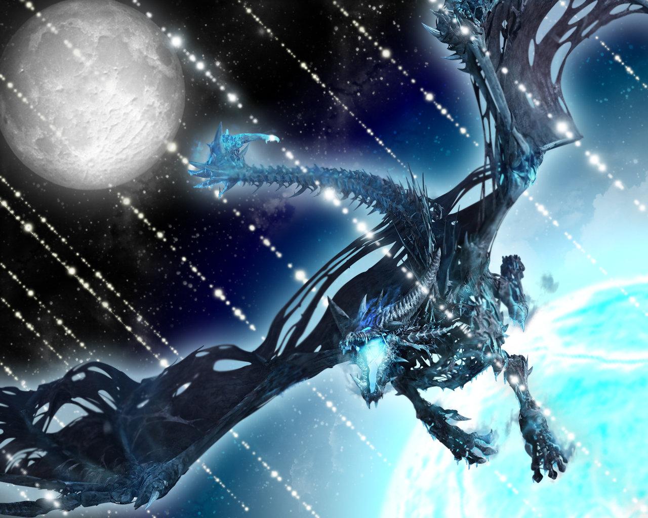 Ice Dragon by Tytolis 1280x1024