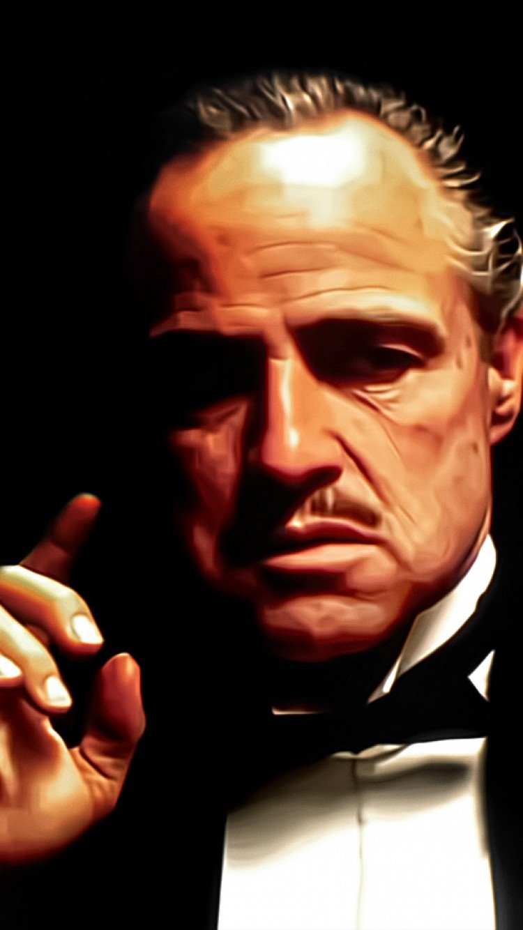 Random attachment Don vito corleone wallpaper for iphone hd background 750x1334