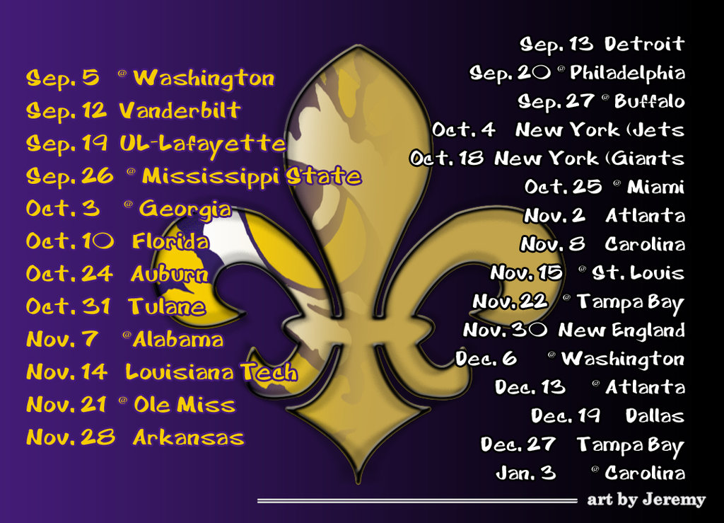 2009 LSU Saints by artbyJeremy 1024x739