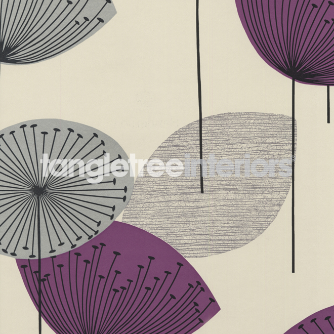 Dandelion Clocks wallpaper from Sanderson   DFIF210240   GoldMauve 660x660