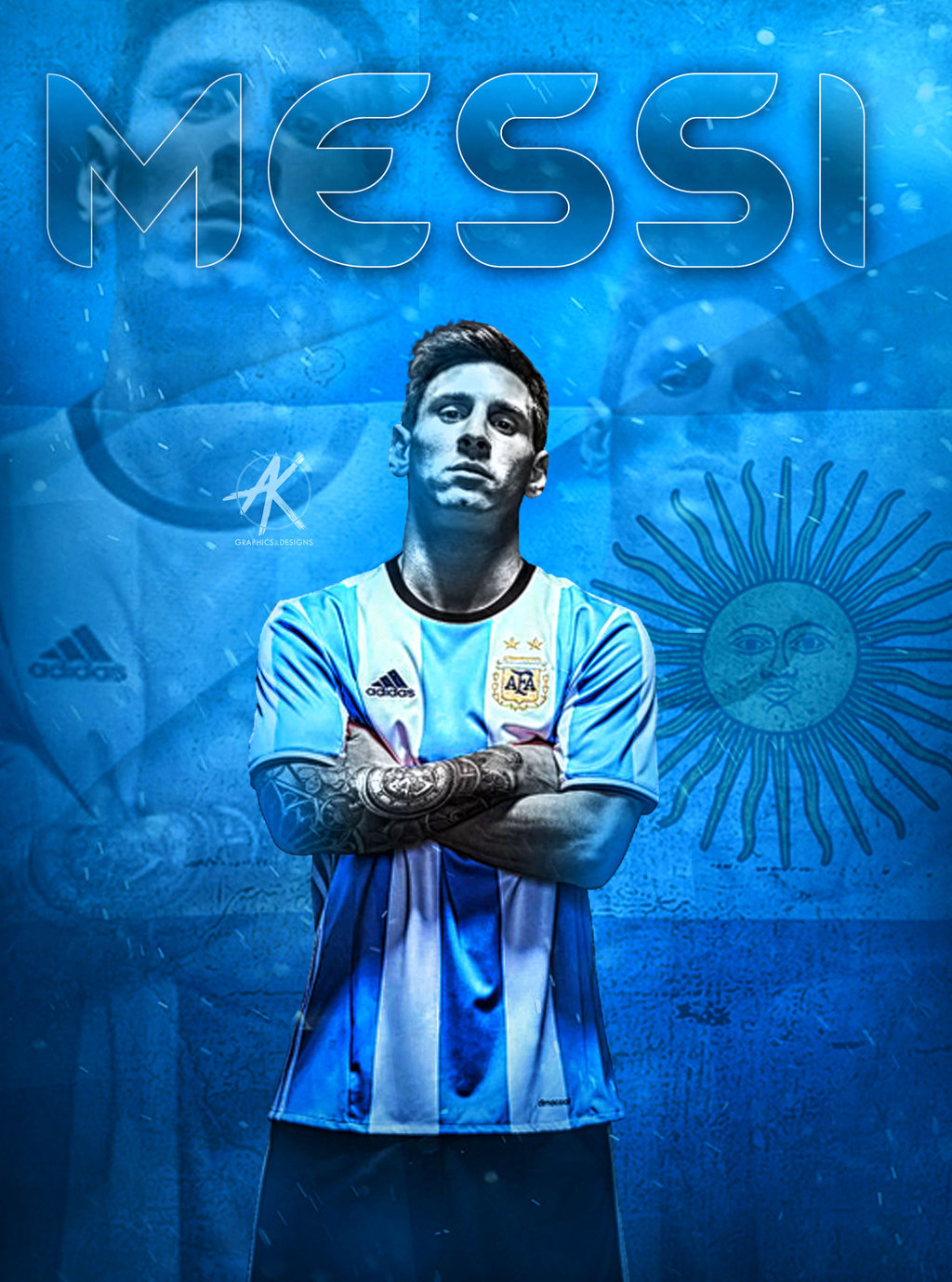 lionel messi argentine 2016 wallpaper by Ghanibvb on 1024x1379