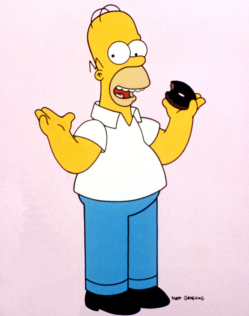 Homerdonut 550x698 Top 10 Cartoon Characters 806x1024