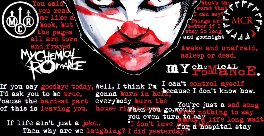 Free Download My Chemical Romance Lyrics And Logos By