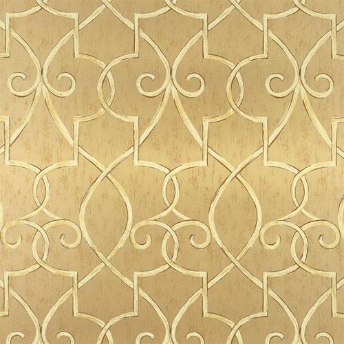 Lattice Wallpaper in Metallic Gold   Geometric Wallpaper   Wallpaper 500x500