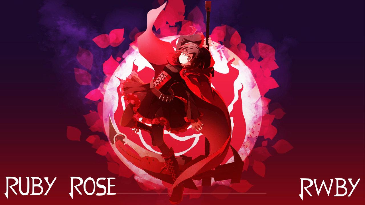 rwby wallpaper ruby rose by aerie desu watch customization wallpaper 1280x720