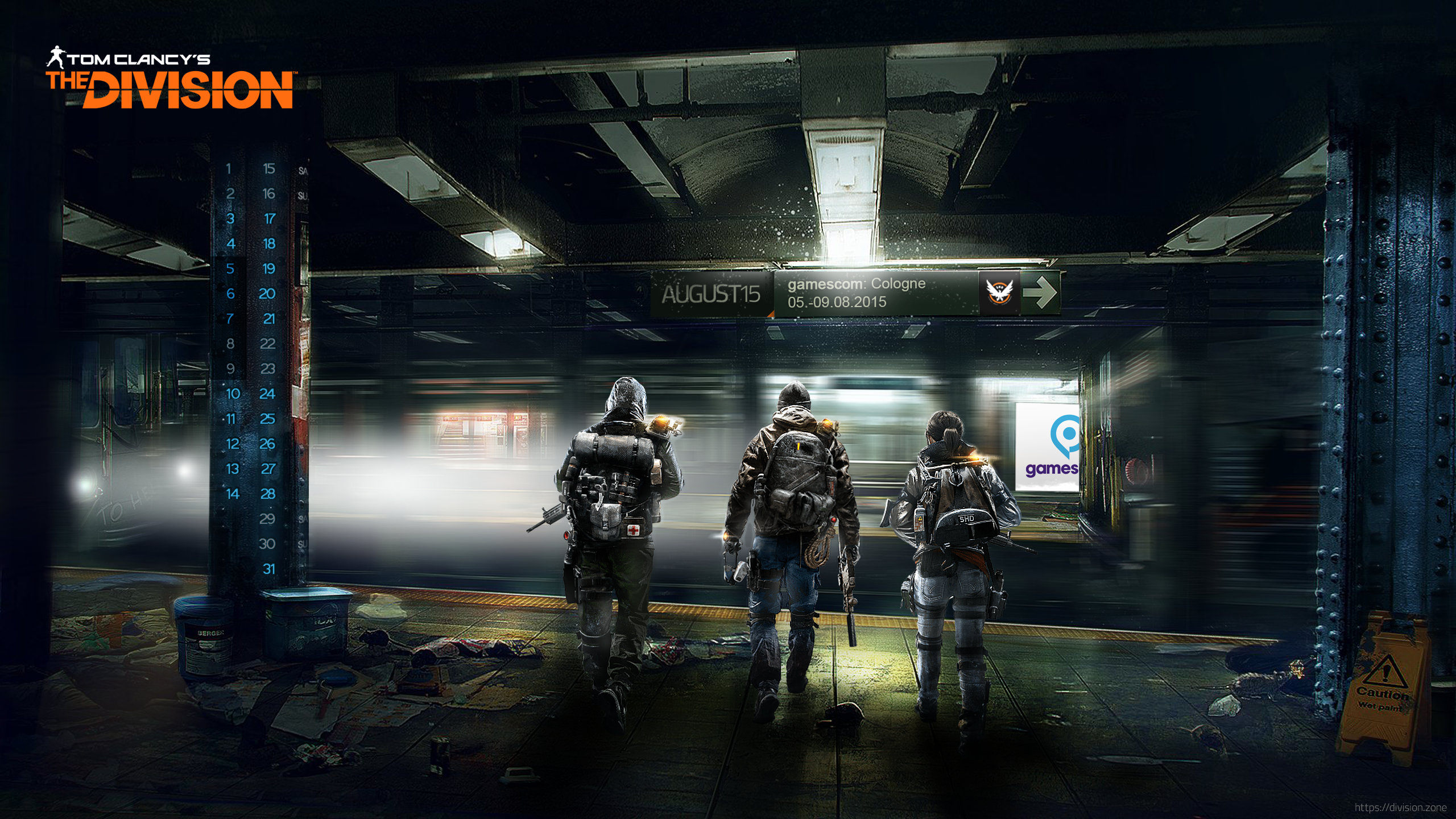 Desktop Wallpaper August 2015 The Division Zone 2560x1440