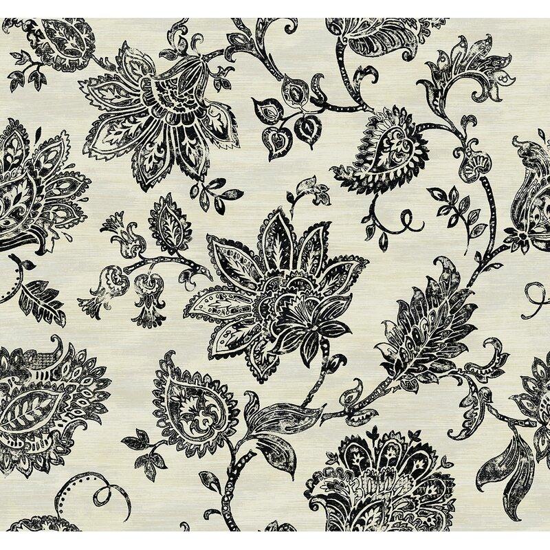 Rosdorf Park Hanover Stamped Jacobean 27 L x 27 W Wallpaper Roll 800x800