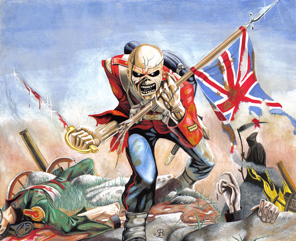 Iron Maiden The Trooper Wallpaper - WallpaperSafari