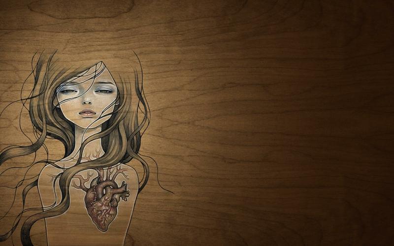 wood women wood audrey kawasaki artwork hearts 1680x1050 wallpaper 800x500