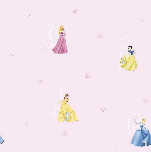 Disney Princess Castle Wallpaper Kidzdens 598x600