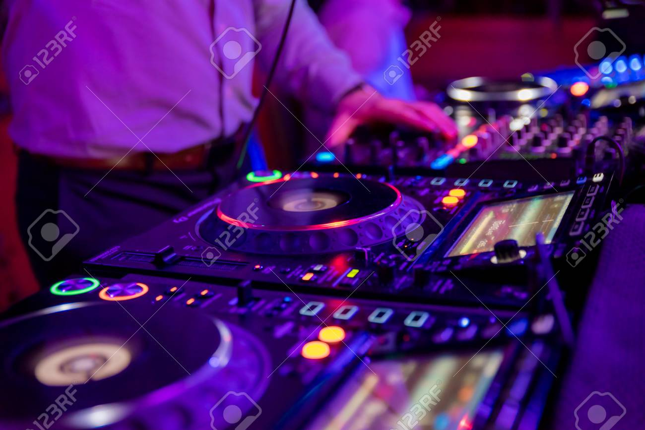 Professional Sound Mixer For Musical Events Hands Of The DJ 1300x867