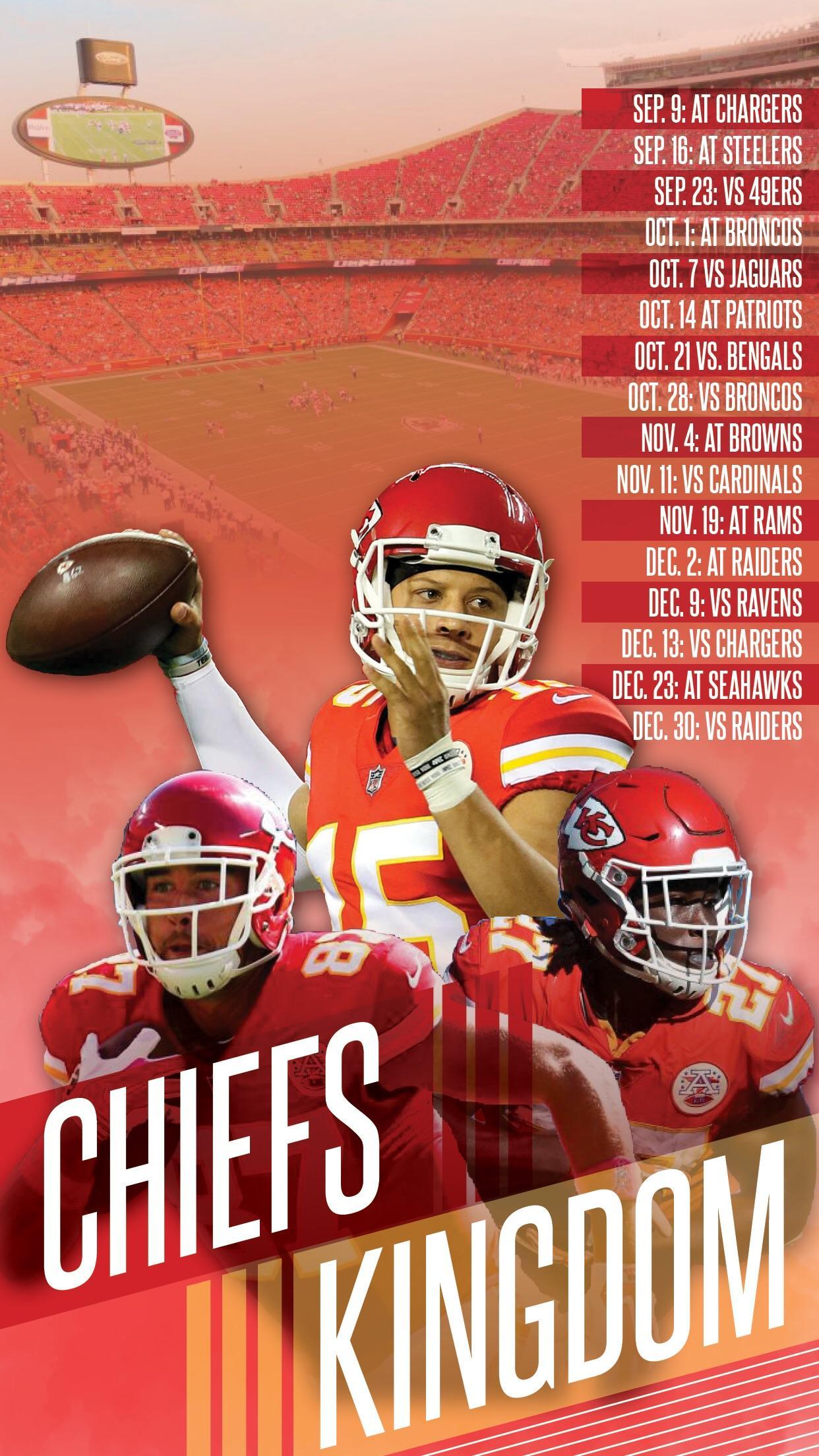 Chiefs mobile wallpaper KansasCityChiefs 1242x2208