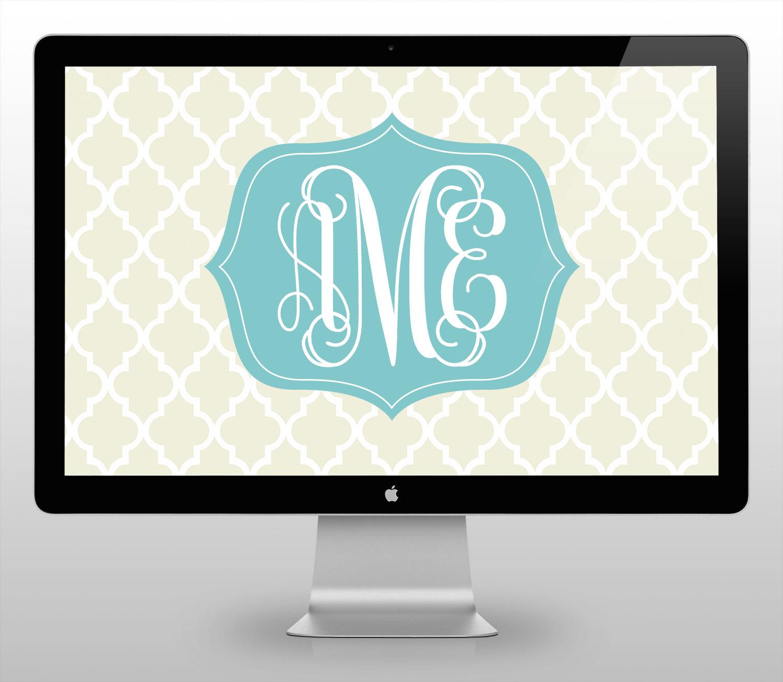 moroccan monogram desktop wallpaper from monogramsbyks 1500x1305