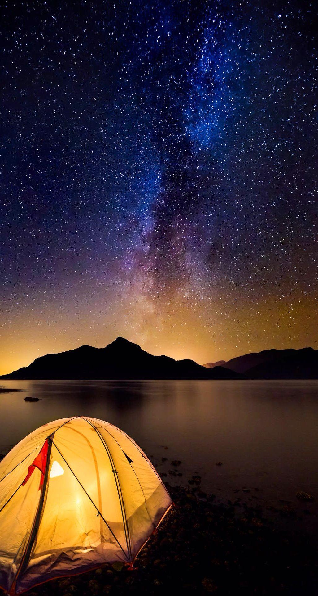 Milky Way Camping wallpaper Iphone wallpaper sky Nature 1027x1920