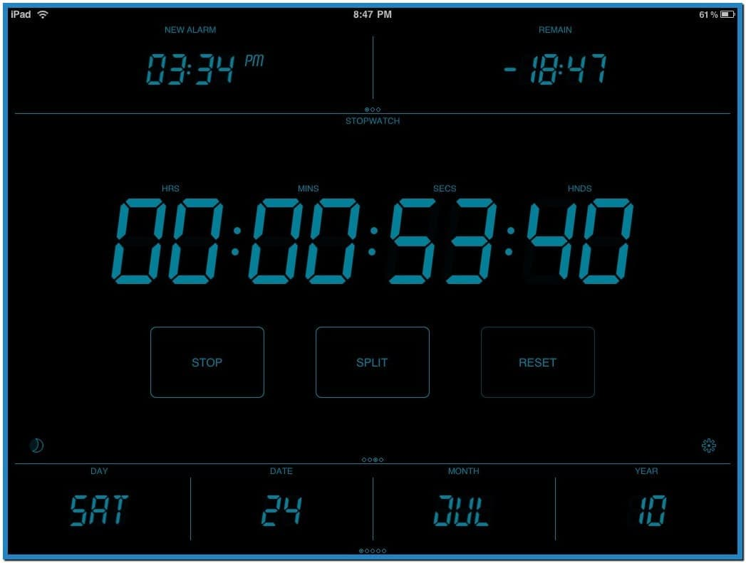 Digital alarm clock screensaver   Download 1047x791