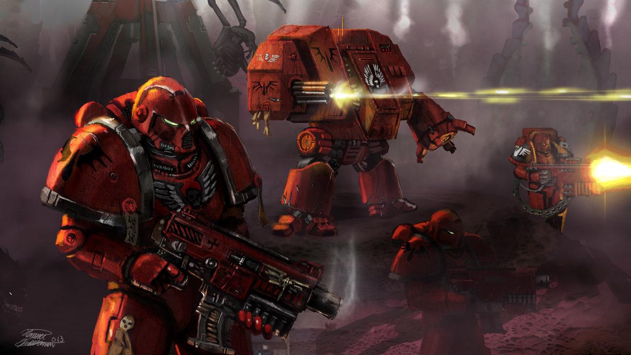 Warhammer 40k death company wallpaper - Bloodangels 40k By Lordhannu On Deviantart