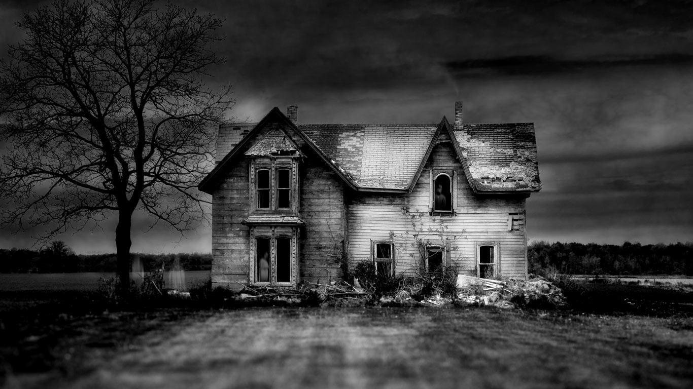Bing Images   Spooky House   An old abandoned house in southern 1366x768