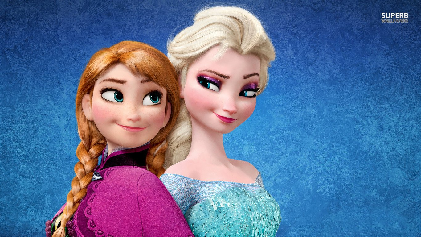 You can download Elsa and Anna Frozen wallpaper in your computer 1366x768