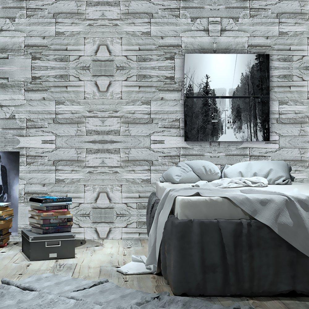 WPT Brick Stone Textured Self Adhesive WallpaperRoll Multi Brick 1000x1000