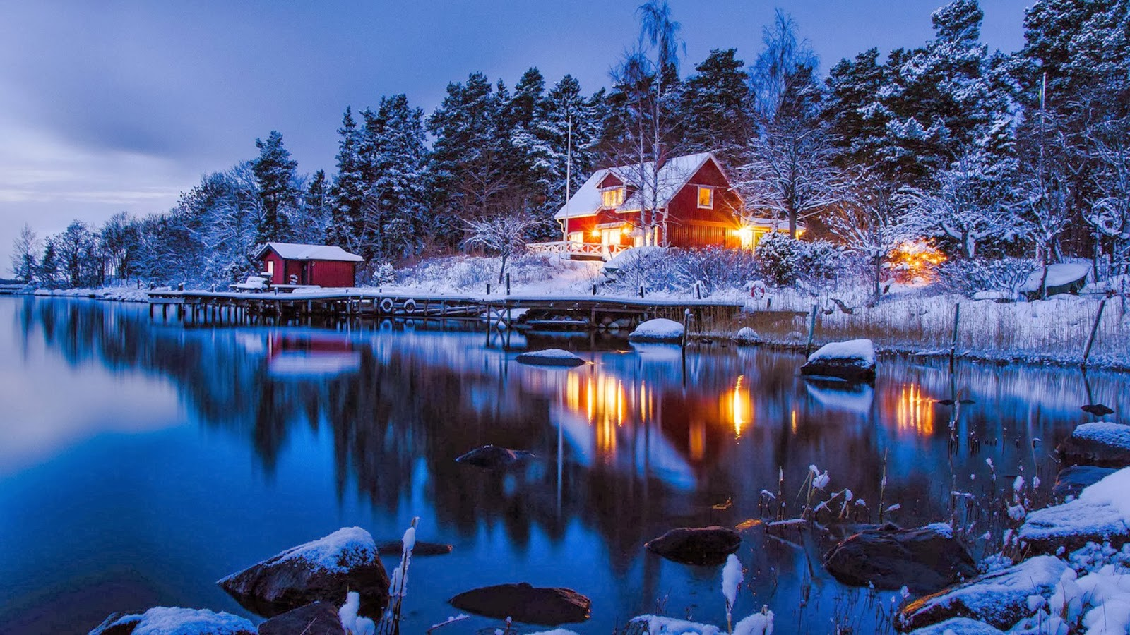 Country Winter Wallpaper Wallpapersafari