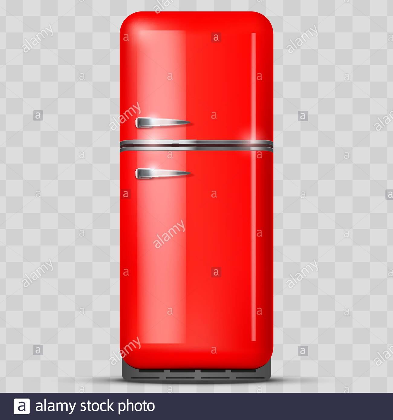 Vintage Fridge refrigerator Vector isolated on white background 1300x1390