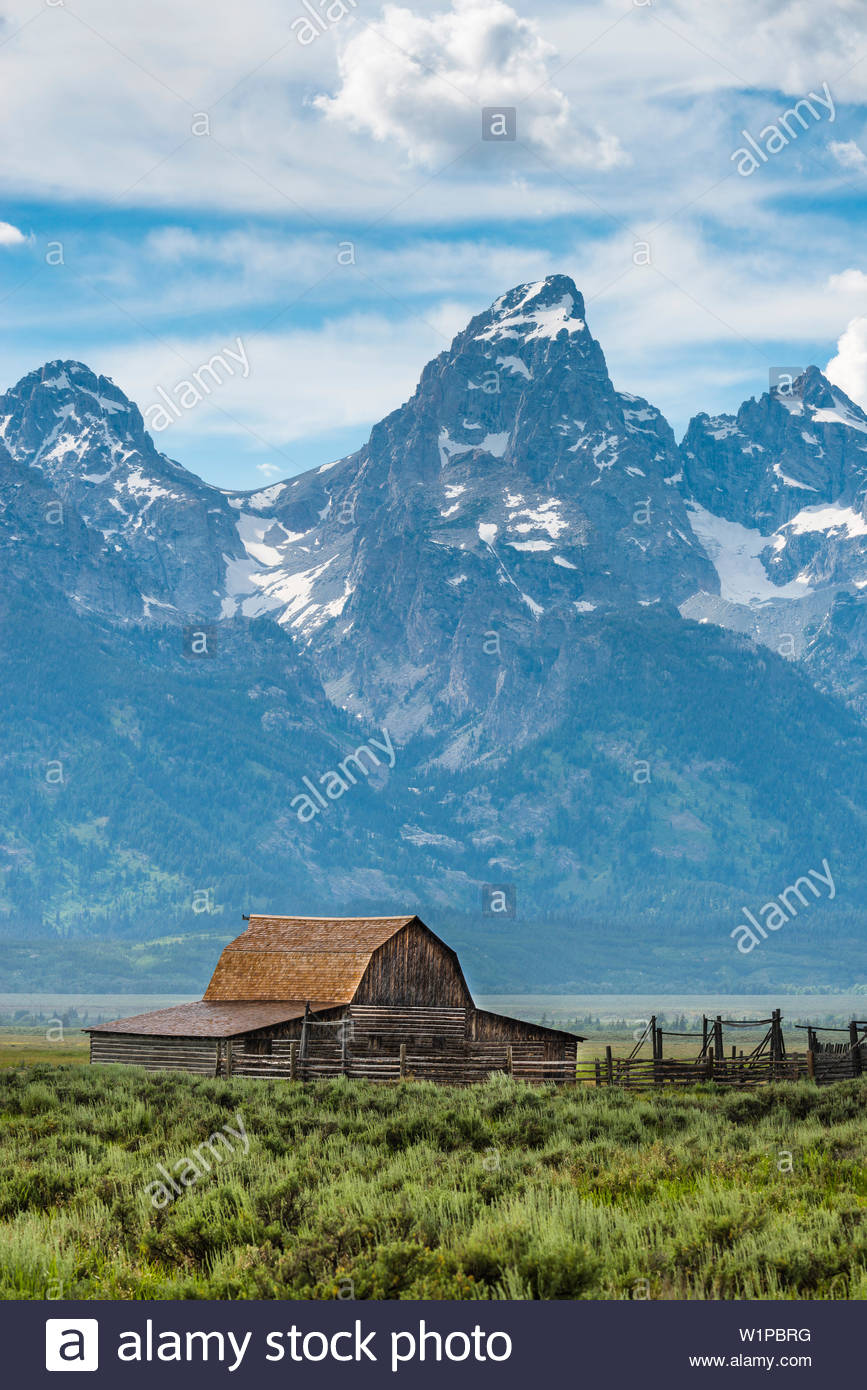 Mormon Row barn with the Tetons in the background Grand Teton 867x1390