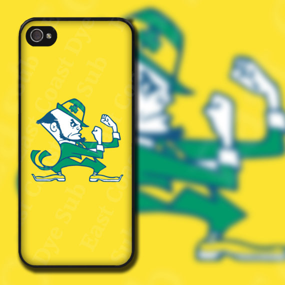 Items similar to Notre Dame Yellow Background Design on iPhone 4 4s 570x570