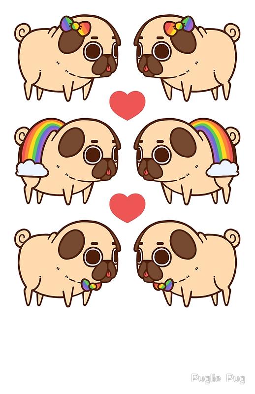 Cartoon Pugs Wallpapers