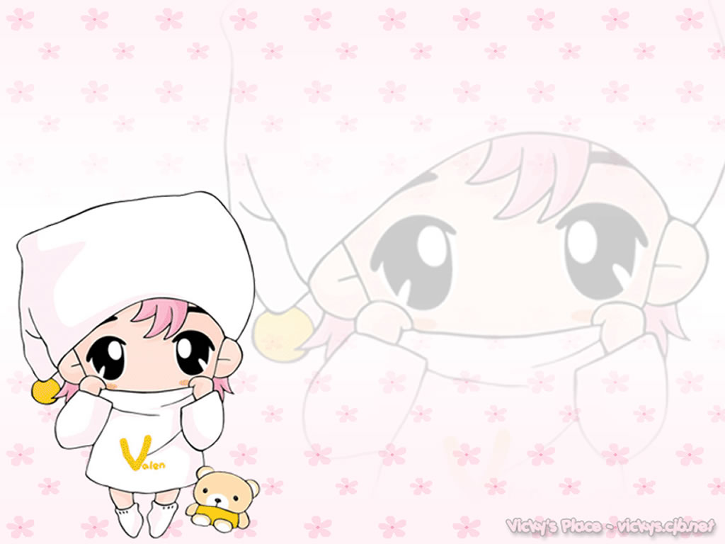 Cute Chibi Wallpaper 1024x768